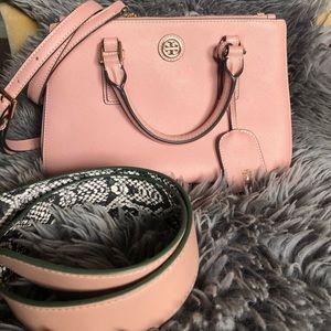 Tory Burch pink saffiano bag